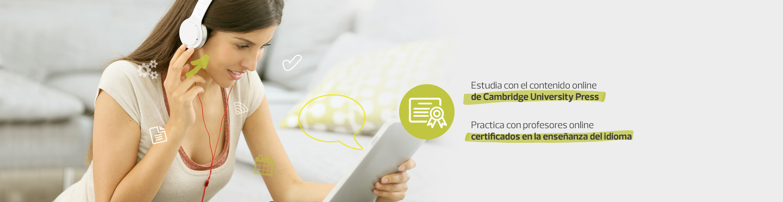 Estudia con profesores particulares en línea y el contenido online de Cambridge University Press