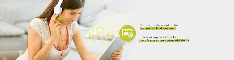 Ponemos en tus manos el mejor contenido - Estudia con el contenido online en nuestra plataforma web - Practica con profesores online certificados en la enseñanza del idioma