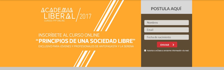 ¡Inscribete en la academia liberal! - Curso dirigido principalmente a jóvenes entre 18 y 30 años, de todas las regiones de Chile que tengan interés en aprender conceptos básicos sobre el liberalismo.