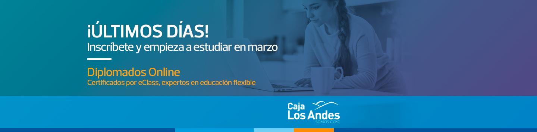 ¡Últimos días! - Inscríbete y empieza a estudiar en marzo - Diplomados online certificados por eClass, expertos en educación flexible