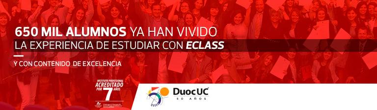 650 Mil alumnos ya han vivido la experiencia de estudiar con eClass - Y con contenido de excelencia