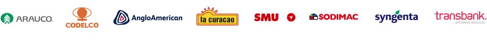 Arauco, Codelco, Angloamerican, La Curacao, SMU, Sodimac, Syngenta, Transbank