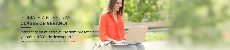 ¡SÚMATE A NUESTRAS CLASES DE VERANO! - Inscríbete en nuestro curso semipresencial y obtén un 30% de descuento.*