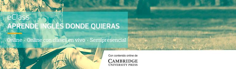 Con eClass aprende inglés donde quieras - Online - Online con clases en vivo - Semipresencial